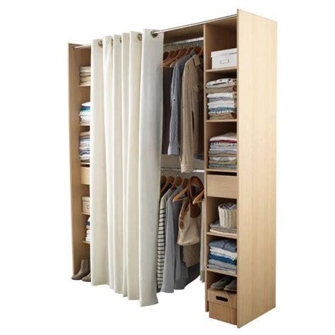 armoire chambre castorama dressing tout en un 180 cm avec rideau castorama diy