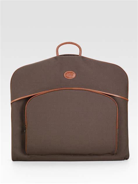 lyst longchamp boxford hanging garment bag  brown  men