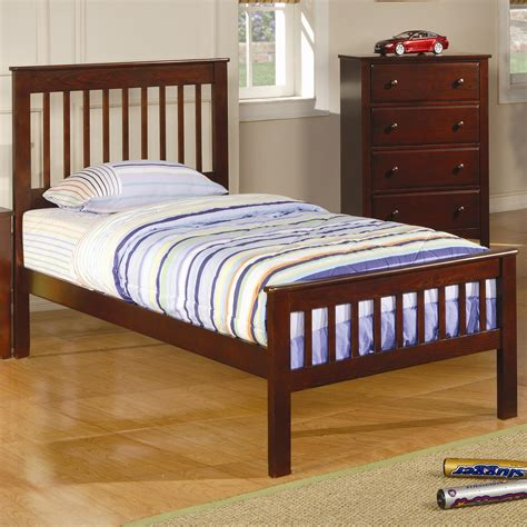 27010 coaster furniture beds coaster slat headboard footboard bed value