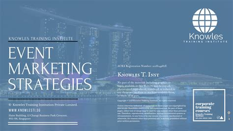 Marketing Strategy Courses by Event Marketing Strategies Course In Singapore