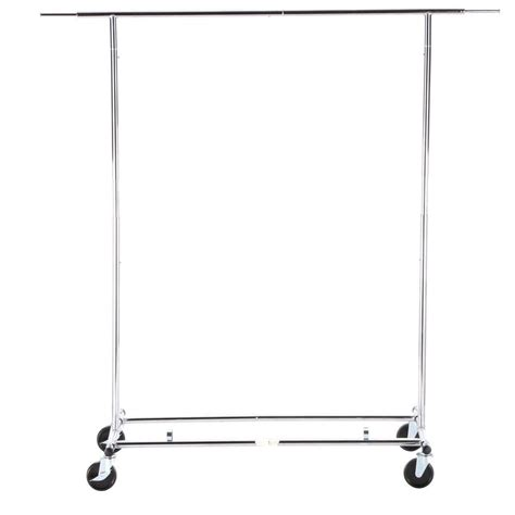 rolling clothes rack honey can do collapsible steel rolling garment rack in