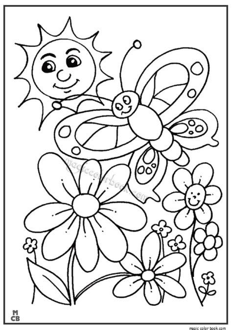 Coloring Pages For Spring And Summer  Free Summer Coloring Pages Kidsfree Printable Rainbow