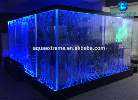 restaurant room divider acrylic wall led light water