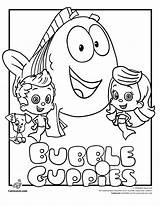 Bubble Guppies Coloring Pages Underwater Mermaid Prints Printables sketch template