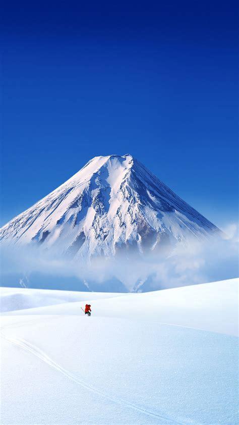 超高清雪山壮阔风景手机屏保壁纸-苹果-壁纸下载-美桌网