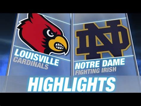 louisville  notre dame  acc football highlights