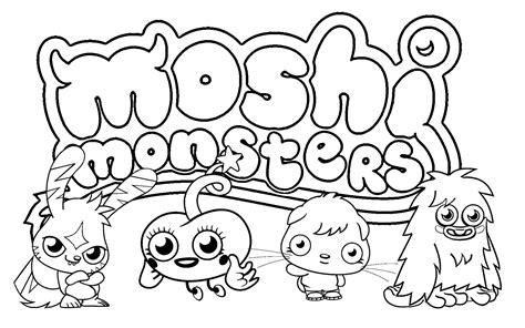printable moshi monster coloring pages  kids