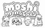 Coloring Pages Moshi Monster Monsters Printable sketch template