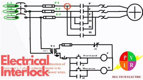 electrical interlock motor control forward forward circuit diagram youtube