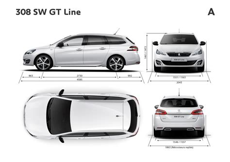 dimensions coffre 308 sw image gallery peugeot 308 dimensions 2015