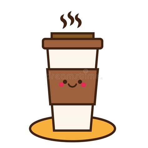 High quality coffee svg gifts and merchandise. Coffee Cup. Cute Kawaii Smiling And Friendly Coffee Character. Hand Drawn Icon Stock Vector ...