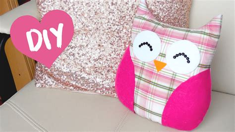 diy room decor easy owl pillow sew no sew