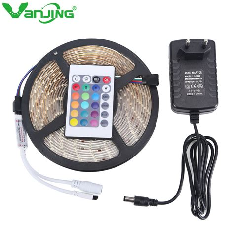 led light controller waterproof rgb led 5m 300leds 3528 smd 24key ir