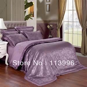expensive purple jacquard satin embroidered bedding comforter set queen king duvet cover set bed