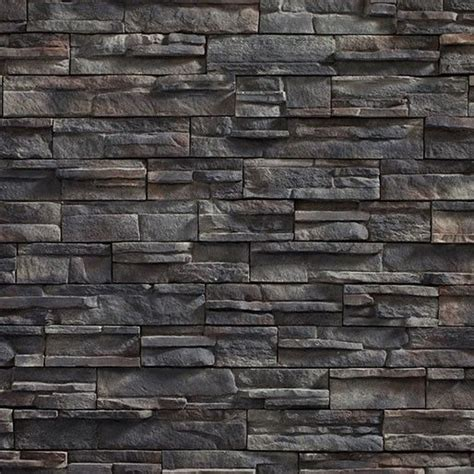 Gallery For > Black Stone Exterior Wall | Exterior stone ...