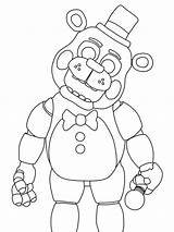 Freddy Fazbear Coloring Via sketch template
