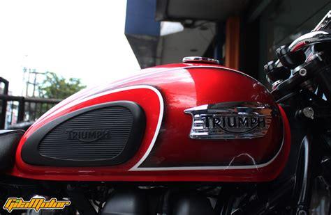 Gambar Motor Triumph Bonneville T100 by Modifikasi Triumph Bonneville T100 Inspirasinya Roland