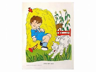 Boy Nursery Rhyme Illustration Wall Drawing Painting