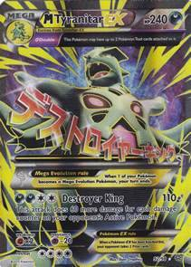 pokemon card mega tyranitar ex 9298 full art xy ancient origins mint p