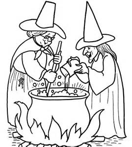 Scary Halloween Witch Coloring Pages