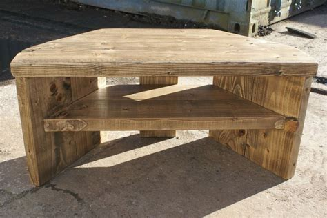 rustic corner tv stand solid wood unit cabinet plank