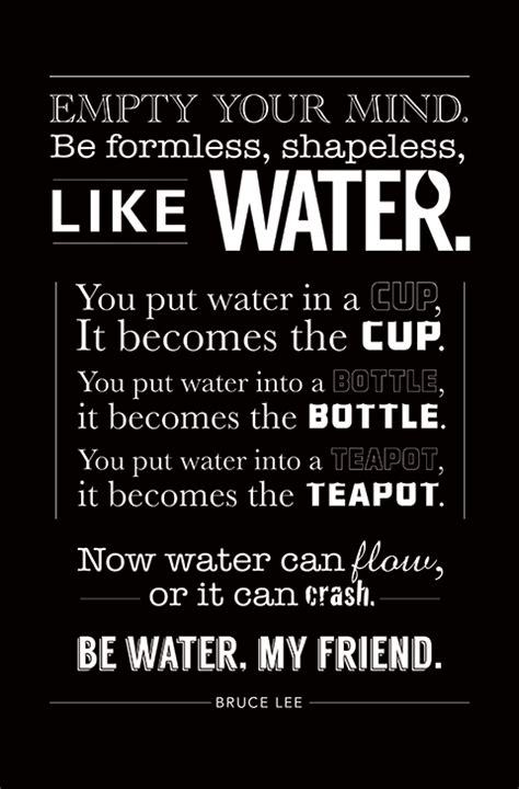 famous bruce lee quotes water quotesgram