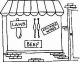 Butcher Meat Coloring Pages sketch template