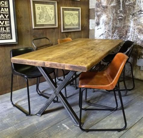 les 25 meilleures id 233 es concernant table industrielle sur pieds de table