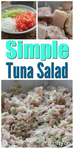 simple tuna salad recipe thriftyfun
