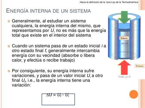 Energia Interna Termodinamica Semana 7 Calor Y Leyes De La Termodin 193 Mica