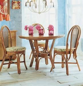 Table Salle A Manger Ronde : table ronde modulable en rotin brin d 39 ouest ~ Teatrodelosmanantiales.com Idées de Décoration