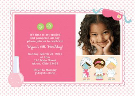 5th birthday invitation card template awesome how to create 4th birthday invitation wording