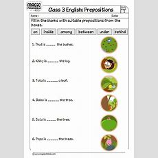 This Worksheet Is Dealing With Filling In Prepositions A Preposition Links Nouns, Pronouns And