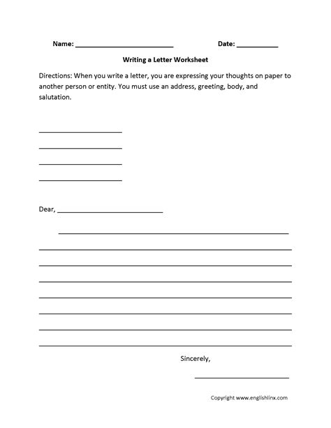 englishlinxcom writing worksheets