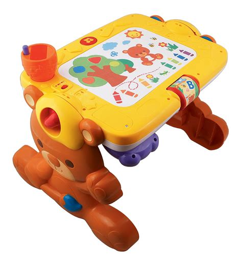 fisher price drawing desk vtech 2 in 1 discovery table play and draw so much to