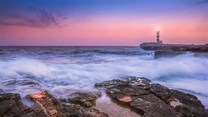 Lighthouse Sunset 4k Sea Wallpapers Spain Backiee
