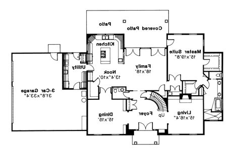 Colonial Floor Plans by Colonial House Plans Kearney 30 062 Associated Designs