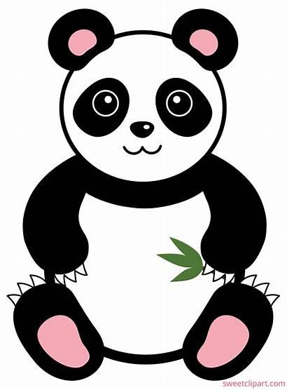 Panda Bear Clip Clipart Sweet Giant Royalty