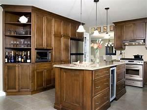 elegante sobriete cuisine bois erable quartz With refaire cuisine en bois