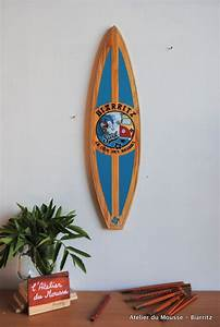 Planche Surf Deco : planche de surf de d coration en bois mod le22 turquoise mes cr ations en collaboration avec l ~ Teatrodelosmanantiales.com Idées de Décoration
