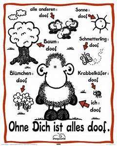 Ohne Dich Ist Alles Doof : sheepworld ohne dich ist alles doof mini poster 40x50 ~ Watch28wear.com Haus und Dekorationen