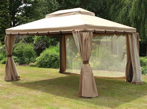 gazebo with mosquito netting assembly
