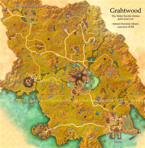 grahtwood map  elder scrolls  game mapscom