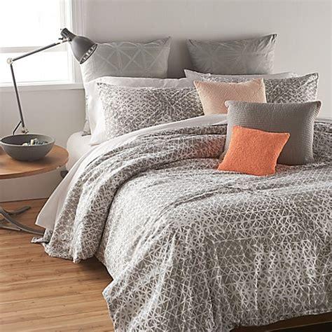dkny gridlock comforter set in grey bedbathandbeyond com