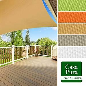 casa purar sonnensegel wasserabweisend impragniert With französischer balkon mit sonnenschirm 3x3m quadratisch