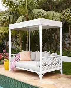 made in the shade a canopy covered outdoor daybed made With französischer balkon mit daybed garten holz