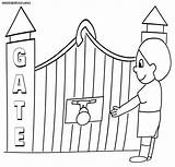 Gate Colorings Coloring Colouring Pages sketch template