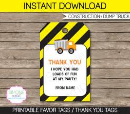 labels for party favors construction party favor tags template thank you tags