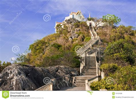 temple  top  mountain south  thailand royalty