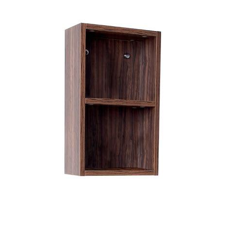 bathroom linen side cabinet fresca walnut bathroom linen side cabinet w 2 open